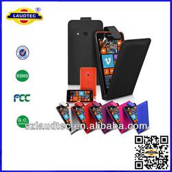 2014 newest leather flip case for nokia lumia 625