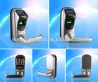 fingerprint door access control lock/reversible handle/silver/stainless steel (L7000U)