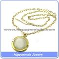 Clásico nuevo diseño caliente joyería del ópalo, collar de oro de la piedra de ópalo precio de joyería de ópalo
