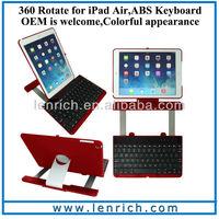 LBK163 For iPad Air 5 360 Rotate Bluetooth Keyboard Case Multi-function Swivel Bluetooth Keyboard Case for iPad Air 360 rotation