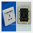 China power socket outlet usb wall socket with 2 usb 5V2.1A suit for very convenient for USB product charge suit for home hotel