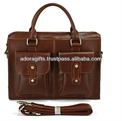 cute laptop computer bags / stylish cow leather laptop bags / laptop backpack bags for women / brown messenger bag