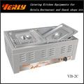 Commercial 2 casseroles bain- marie/équipements de cuisine commerciale