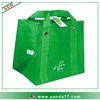 Green foldable recycle tote bag printing