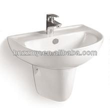 Ceramic Basin With Pedestal ZZ-O6000 Wall Hung Basin