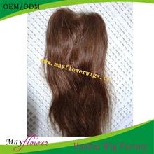 Indian Cheap Human Hair Lace Closure Thin Skin Light brown closure