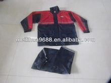 Black Fashion Waterproof Hood Backpack Motorcycle Rain Suit