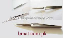 X type tweezers for eyelash extension stainless steel xtreme eyelash extension tweezers pointed tip