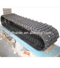 Hyundai mini excavator rubber track, mini rubber track for digger, rubber tracks for snow vehicles/tactor/crawler