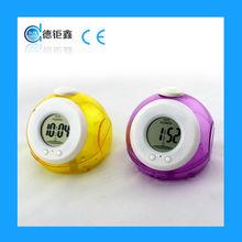 2015 promotional mini water powered digital alarm clock