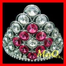Cute small wedding tiara, full crystal jewelry tiara, bridal crown with rose crystal