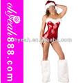 mejor venta de alta calidad de estilo de peluche santas de lentejuelas baby romper chirstmas traje femenino de santa traje de moda de fiesta de navidad