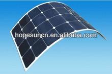 21% Efficiency Sunpower Back Contact Flexible Solar Panel 75W