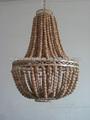 Perlen chandeleirs | holz hängelampe | perlen lampen