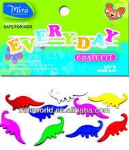MTLP-EVD010 colorful metallic dinosaur confetti