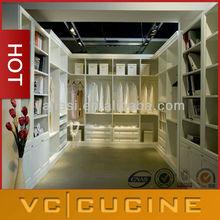Eropean style wooden cupboard in bedroom