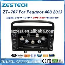 ZESTECH car dvd bluetooth for peugeot 408 with radio gps navi, digital tv reproductor de DVD del coche para for Peugeot 408