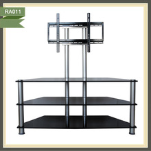 60 inch black glass metal lcd tv cabinet