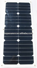 High efficiency 25w Golf Car use flexible solar panel