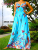ANGELA-1033 Evening Casual Ladies Women Elegant Long Maxi Dress Sexy Strap Party Beach Dress Ready Made Garments