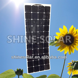 Sunpower Semi Flexible Solar Panel 130w,Marine Flexible Solar Panel For RV Yacht