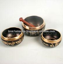 meditational metal singing bowls
