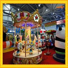 Outdoor interesting amusement machine 3 seats carousel happy children games