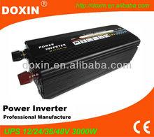 3000W UPS Inverter ! DC12v/24v- AC110v/ 220v UPS Inverter Battery Charger Battery 15A