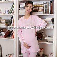 Pure cotton warm comfortable european style maternity loungewear pregnant women's pajamas feeding baby nightwear AK098