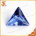 grado aaa sintéticos brillantes de color azul zafiro triángulo de cristal de piedras preciosas