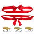 Presente de decoração embalagem elástica fita de cetim bow