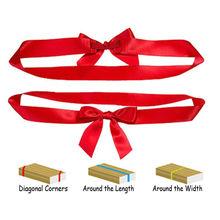 gift decorating elastic packaging satin ribbon bow