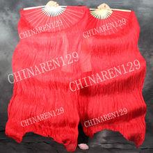 Nueva moda rojo danza de vientre del ventilador, Fan velo