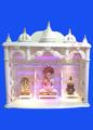 Mármore de madeira do templo, altar, mandir