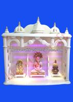 Marble wooden temple ,altar, mandir