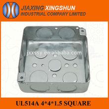 Electrical Knockout Galvanized Metal 4x4 Emt Conduit Box