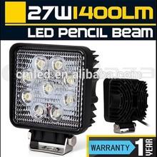 Hot Sale!! 12V Driving Worklight 27W LED Work Light Super Bright Round LED Work Light