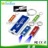 Promotional custom plastic flashlight torch LED light key ring