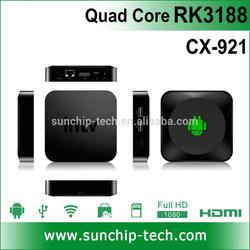 Quad Core Rockchip 3188 Android 4.2 HDMI TV BOX with WIFI