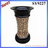 2015 decoration plant pot for sale black orchid ceramic flower pot