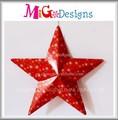 Cerámica de diseño de la estrella colgante/estrella de cerámica handings/directa de la fábrica de la fabricación de lámina de metal de regalo decoración de navidad colgando