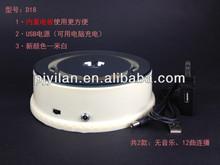 creamy white Fashion rotating battery powered rotary crystal light led base