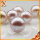 Hot sale shining grade AAA beautiful purple round freshwater loose pearl