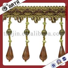 handmade welcomed design lampshade bead fringe trims