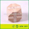 3d de madera cerebro teaser rompecabezas