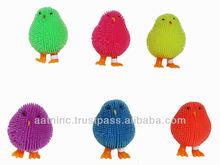 12PCS/SET flash puffer animal toys - light up chicks