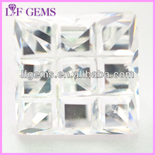 synthetic semi-precious square fancy white cubic zirconia gems