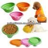 silicone pet travel bowls,folding silicone bowl,silicone dog bowl