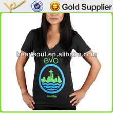 OEM popular cotton o-neck women print design t shirts
