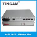 A 4e1 10/100m convertidores de interfaz 120 ohm e1 a ethernet convertidor de protocolo